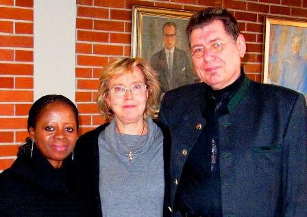 Gladys Okocha-Löcke, Christina Korkman och Gerd-Peter Löcke
